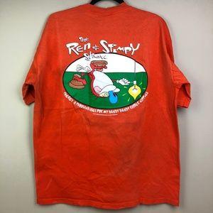 VTG The Ren & Stimpy Show T Shirt L Rubber Nipples